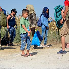 Syrian refugees on their way to EU, Serbia-Croatia border